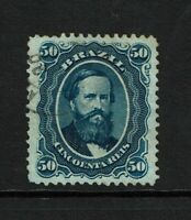 Brazil SC# 56a Used / Blue Paper / Well Centered / Nice - S7039