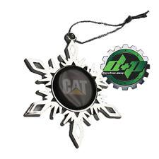 CAT logo Caterpillar Christmas tree Snowflake ornament holiday gift snow flake