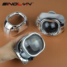 Square HID Bi-xenon Lens D2S Projector 3.0'' Headlight Retrofit W/ Shrouds