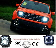 2015-2017Jeep Renegade Headlight with led DRL and hid Bi-xenon Projector 1pair