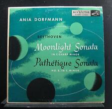 Ania Dorfmann - Beethoven: Moonlight Sonata & Pathetique LP VG+ LBC 1029 1st