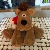 "Rodney the Reindeer Plush Hallmark Stuffed Animal NWT New 14"" Christmas Holiday"
