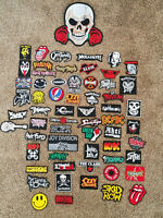 Assorted Sew Iron on Embroidered Punk/Metal/Rock Patches Free Shipping