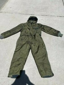 RefrigiWear Insulated Hooded Coveralls Style 541 Snowsuit USA Medium Sage Green