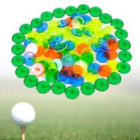 100 Stück Kunststoff Golfball Gemischte Farbe Ballmarker Plastik Golfball Marker