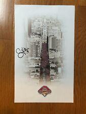 Philadelphia Phillies 2008 world champions poster w S. Victorino autograph