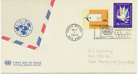 UNO NY 1.5.1964, 15 C and 25 C Air Mails on superb FDC