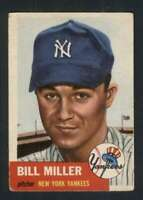 1953 Topps #100 Bill Miller VGEX Yankees 87664
