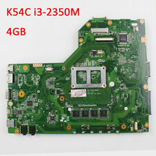 For ASUS X54C K54C Motherboard With i3-2350M 60-N9TMB1201 REV 3.0 Mainboard 4GB