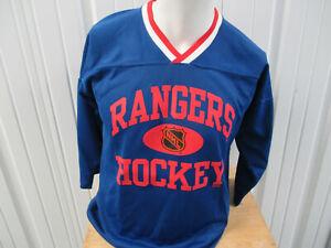VINTAGE STARTER NHL NEW YORK RANGERS HOCKEY MARK MESSIER YOUTH L/XL JERSEY WOMEN