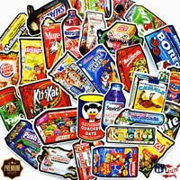 Stickers 50 Food Snack Skateboard Car Luggage Decals Dope Sticker Christmas Gift