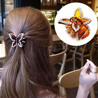 KQ_ BL_ KE_ FT- Women Butterfly Crystal Rhinestone Claw Hairpin Hair Clip Clamp