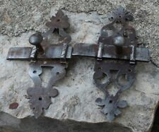 2 anciennes targette ou verrou serrure clé gâches pour placard  porte