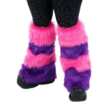 Pawstar Cheshire Cat Leg Warmers Fluffies Pink Purple Boot Cover CLA 2900
