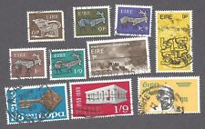IRELAND - TEN DIFFERENT USED STAMPS