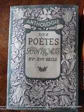 Duviard Ferdinand  anthologie Des poètes français XVème - XVIème littérature