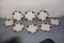 """8 Royal Albert OLD COUNTRY ROSES 8"""" Salad Plates NWT"""