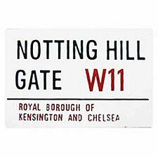 Notting Hill Gate London Street Sign Enamel Fridge Magnet (gg)
