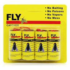 4 Pack - Sticky Fly Catcher Ribbon - Fly Bait - No Poison, Vapors, Or Mess