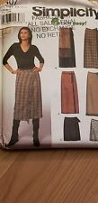 SIMPLICITY 9407 MISSES WRAP SKIRTS 6-8-10-12