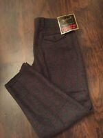 "Woolrich Men's Classics Pants 1990 Wool Malone Heavy Dark Gray Plaid- 44w X 35"""
