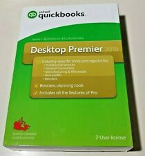NEW Intuit Quickbooks Desktop Premier 2018 - Small Business Accounting - 2-User