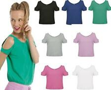 Scoop Neck Short Sleeve Semi Fitted Tops & Shirts for Women