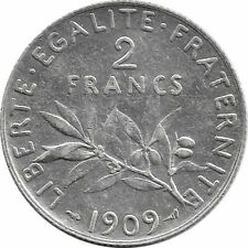 FRANCE 2 FRANCS SEMEUSE 1909 TTB+
