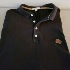 Burberry Brit S/S Black Polo Shirt w/Red Knight Sz Large