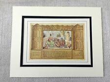 Old Jewish Print Colour Lithograph Rare Art Nouveau Middle Eastern Hebrew 1930s