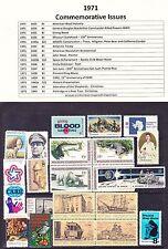 1971 Year Commemorative Full Set Mint Never Hinged w/Original Gum