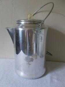 Vintage 20 Cup Comet Aluminum Stove Top Camping Percolator Coffee Pot