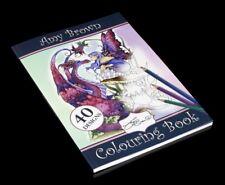 Malbuch - Amy Brown - Fantasy Feen Elfen Drachen Ausmalbuch Meditationsbuch
