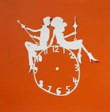 Gorgeous Rob Ryan Graphic papercut card Clock Couple 2017