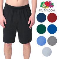 Fruit of the Loom Men's Athletic Wear 2 Pocket Drawstring Jersey Shorts