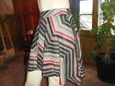 NWT CELUI Multi-Color Zig Zag CELLE Skirt tag Sheer longer in the back sz L