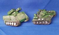 2 Vintage Military Tanks - VEHICLE Resin Refrigerator MAGNET