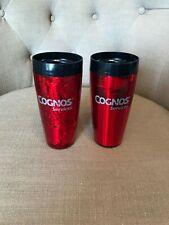 Plastic Cognos Coffee Mugs - Lot of 2 - No Lids - Good Condition