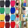 Womens Bodycon Bandage Pencil Mini Skirt OL Office Stretch Knitted Dress Party #