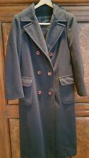 Women's Vintage Navy Blue 100% Cashmere, tea length coat from Davidson's, Sz 8