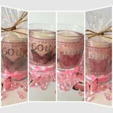 Personalised Gel Candle. Any Colour,Name,Age, Date. Scented. Special Gift.