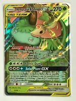 Venusaur & Snivy GX TAG TEAM ULTRA RARE 1/236 SM Cosmic Eclipse Pokemon HOLO NM