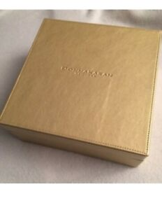 Donna Karan New York Muted Gold Faux-Leather Keepsake Box with Faux Suede lining