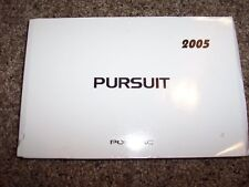 2005 Pontiac Pursuit Owner Owner's User Guide Operator Manual GT SE 2.2L 4Cyl