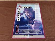 1982 The Seven Samurai Original Movie House Full Sheet Poster