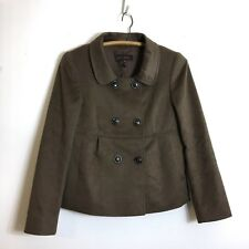 Escada Brown double-breasted Cropped Blazer Jacket Camel Hair Wool Angora 34