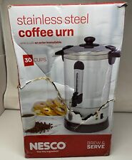 NESCO 30 CUP COFFEE URN - STAINLESS STEEL DOUBLE WALL INSULATION