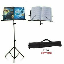 Portable Metal Folding Sheet Music Stand Holder Tripod Base Foldable + Carry Bag