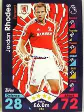 Match Attax 2016/17 Premier League - #216 Jordan Rhodes - Middlesbrough