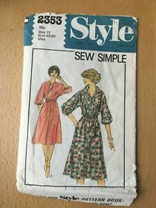New Unused Vintage Style Sewing Pattern Misses Dress Size 10